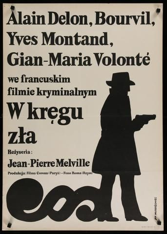 "Year: 1973 I Country: Polish I Jan Mlodozeniec artwork for the first Polish release of Jean-Pierre Melville's 1970 crime drama ""Le Cercle Rouge"""