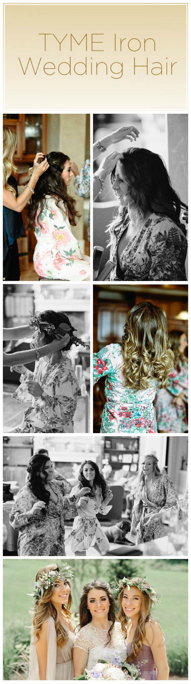 Must have floral crowns with beachy curls for a fall wedding! TYME to make wedding hair fun again, like the ultimate start to a girls night out!