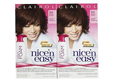Clairol Nice 'n Easy Color Blend Foam Hair Color, 5RB, Medium Reddish Brown, 2 pk. Clairol Nice 'n Easy Color Blend Foam Hair Color, 5RB, Medium Reddish Brown, 2 pk.