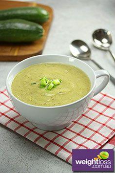 Zucchini & Cauliflower Soup Recipe. #HealthyRecipes #DietRecipes  #WeightLossRecipes weightloss.com.au