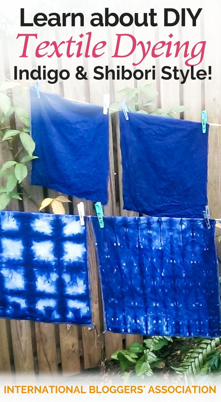 DIY'er's: Have you tried DIY Textile Dyeing?  It is a beautiful look for natural fabrics like cotton and linen.  http://www.internationalbloggersassociation.com/diy-textile-dyeing/?utm_campaign=coschedule&utm_source=pinterest&utm_medium=International%20Bloggers%27%20Association&utm_content=Learn%20about%20DIY%20Textile%20Dyeing%20-%20Indigo%20and%20Shibori%20Style%21