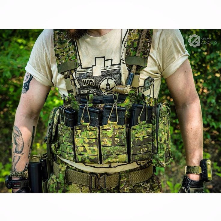 Stronghold Group Door Kicker Chest Rig with Fast Draw v.2 Mag Pouches & Cargo SSGP pouch