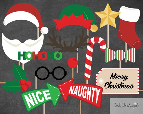 Instant Download Christmas Photobooth by InkOrchardPrintables, $5.95