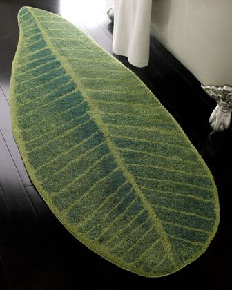 Feuille Green Leaf Rug 25 x 73 - Horchow