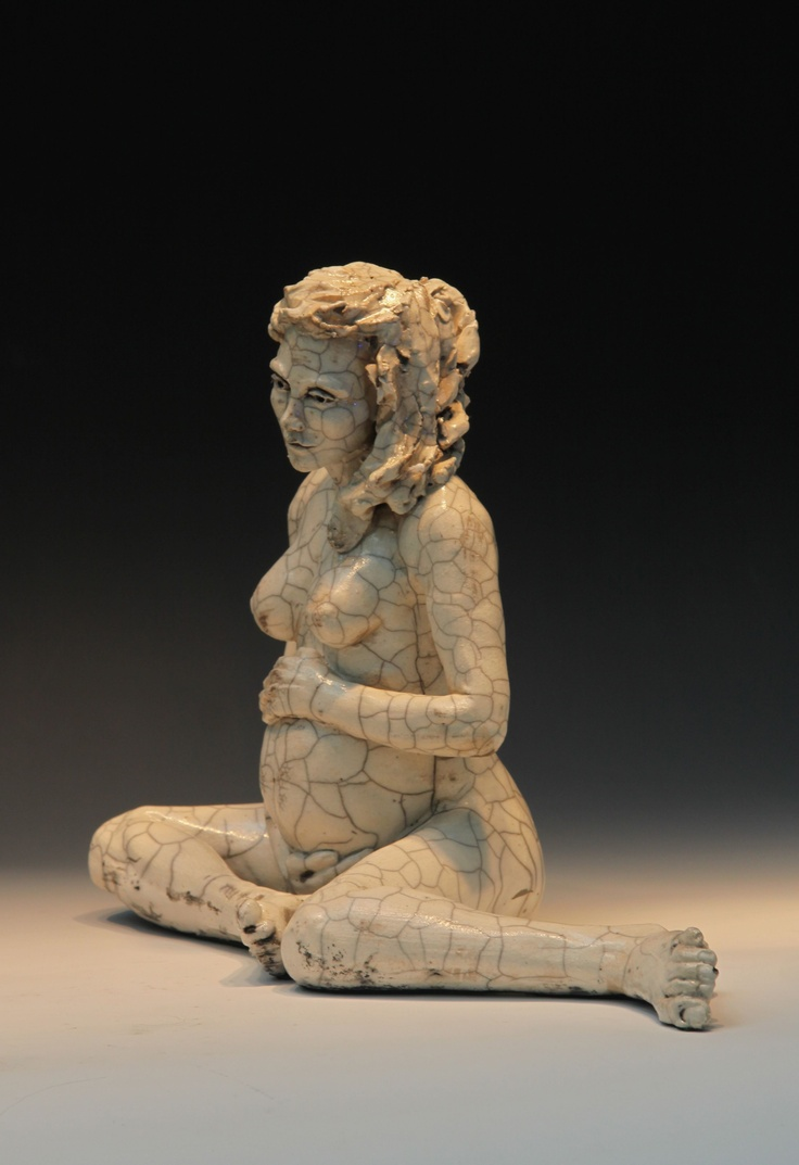 ceramic-figurative-sculpture raku-sculpture wood-fired ...