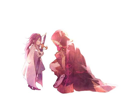 So this would be me and my daughter in the game. Yes, I married Chrom. It's not weird.