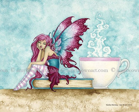 Sunday Morning fairy 8X10 PRINT by Amy Brown by AmyBrownArt