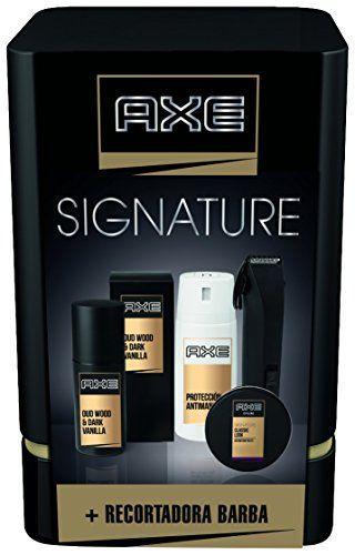 ¡Chollo! Pack regalo QUATTRO AXE SIGNATURE con colonia, desodorante, cera capilar y una recortadora de barba por 15.92 euros.