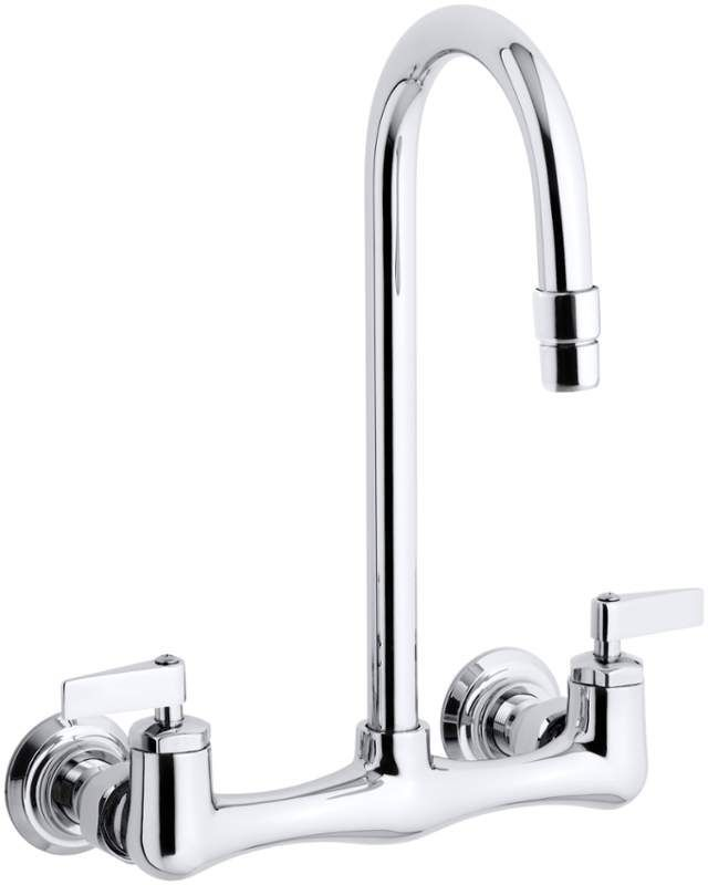 Kohler K-7320-4 Triton utility sink faucet with lever handles Polished Chrome Faucet Laundry Double Handle