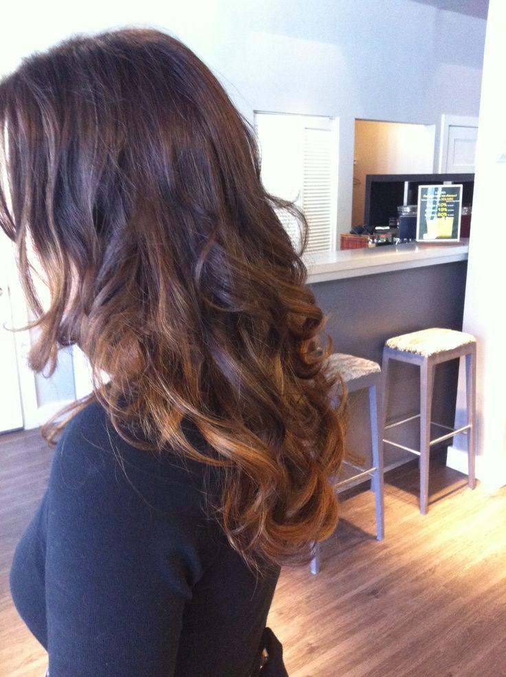 Cheveux longs ombré naturel