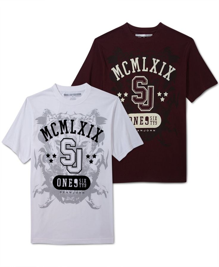 Sean John Shirt, Big & Tall Shield T Shirt   Mens T Shirts