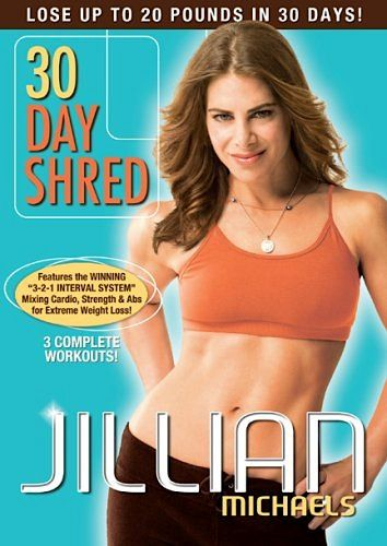 """DVD Deal: Jillian Michaels – 30 Day Shred - Love this  workout!  The best one yet! My daughter kicks my butt in this one.   Her encouragement """"you can do this mom"""" keeps me going ! I love her bunches"""