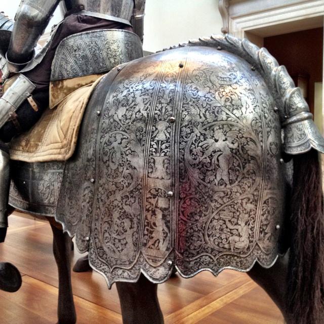Horse rump armor. Medieval. NYC, the Met