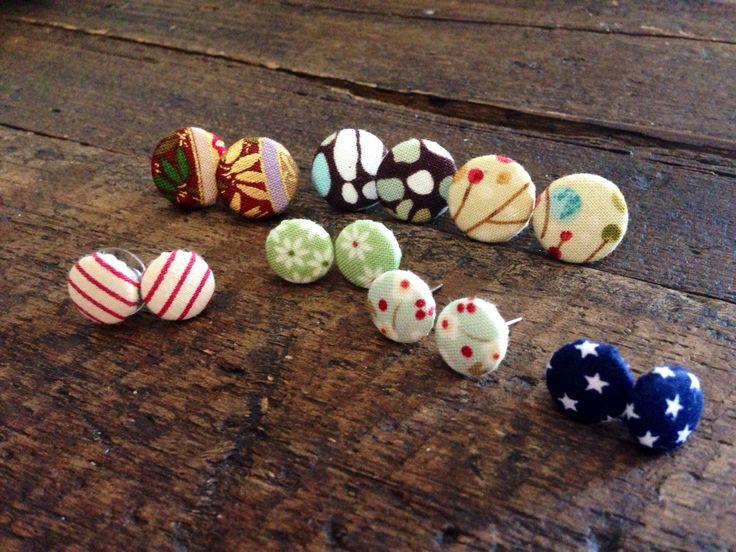 Orecchini a bottone-handmade-