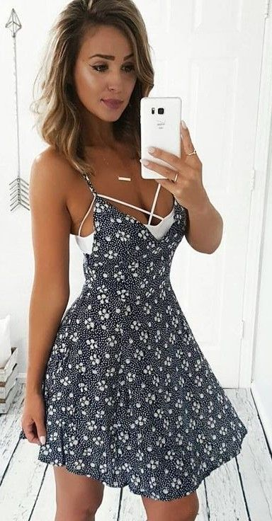#summer #girly #outfitideas | Floral Little Dress