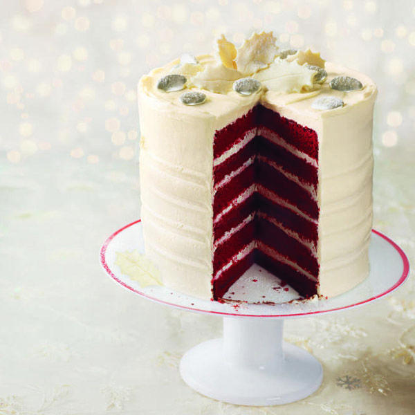 Although this red velvet cake looks complex, it is simple to make as long as you follow the recipe to the letter – it's worth the effort as you'll end up with a wonderfully light and scrumptious cake.