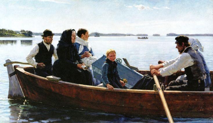 A Child's Funeral (Albert Edelfelt - 1879)