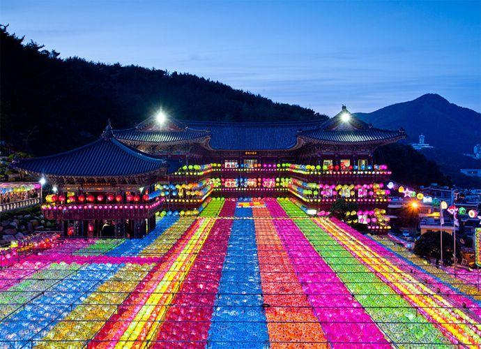 三光寺提灯祭りはカラフルな提灯が豪華!アメリカCNNが選んだ韓国の美しい場所TOP50に選定された。釜山 旅行・観光おすすめスポット!