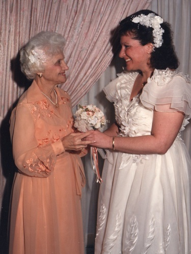 """""""This was taken on my wedding day. I asked my mother to be my maid of honor. Her response was, 'Why me, when you have your young friends, and what about your cousins?' I replied, 'You're supposed to ask your best friend to be your maid of honor, and you, Mom, are my best friend!' Sadly, she passed away in 2005, but I think about my best friend every day."""" -DebbieVillano-Boyle, Rochester, NY"""
