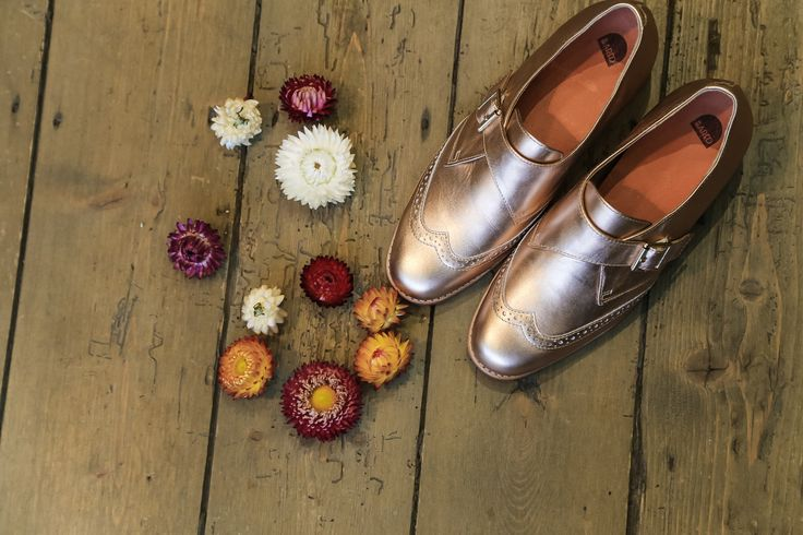 Bared Footwear Flat Lays with our Parrot Rose gold Monk.
