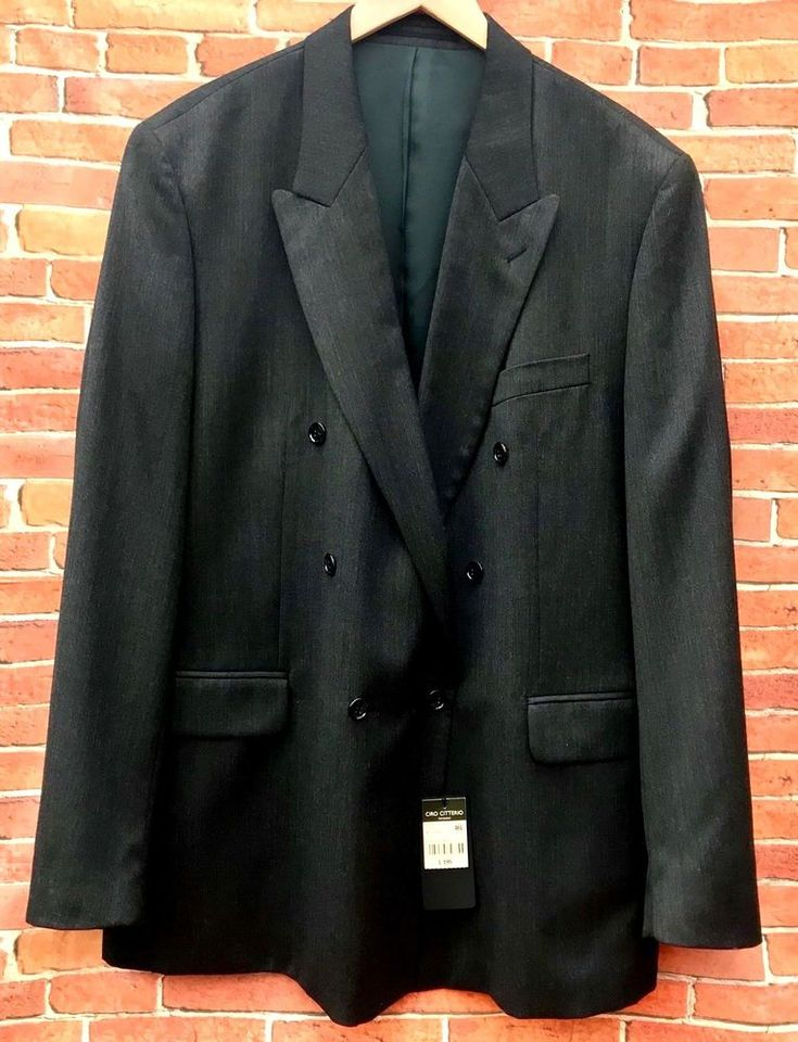Ciro Citterio Menswear Blazer Suit Jacket Size 46L 45% Wool Blend Horne Brothers