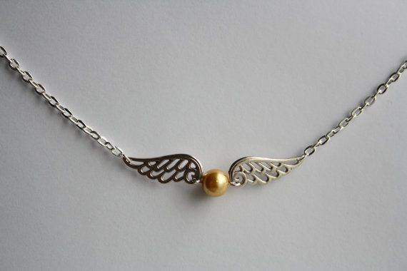 Harry Potter Hogwarts Quidditch Golden Snitch Necklace on Etsy, £6.39 SOMEONE BUY ME THIS !!