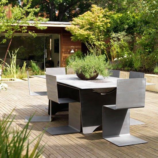 Folded metal furniture