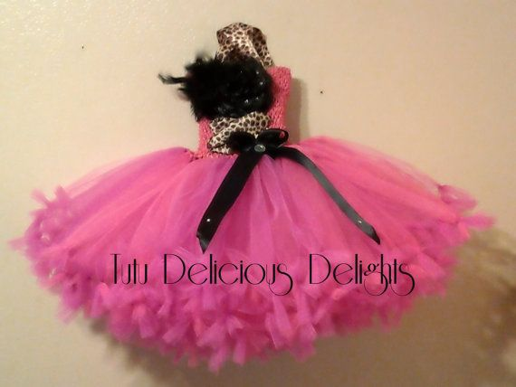 Hot Pink With A Touch Of Leopard Petti by TutuDeliciousDelight