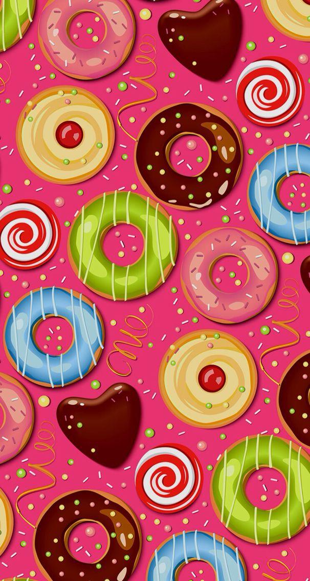Donuts phone wallpaper
