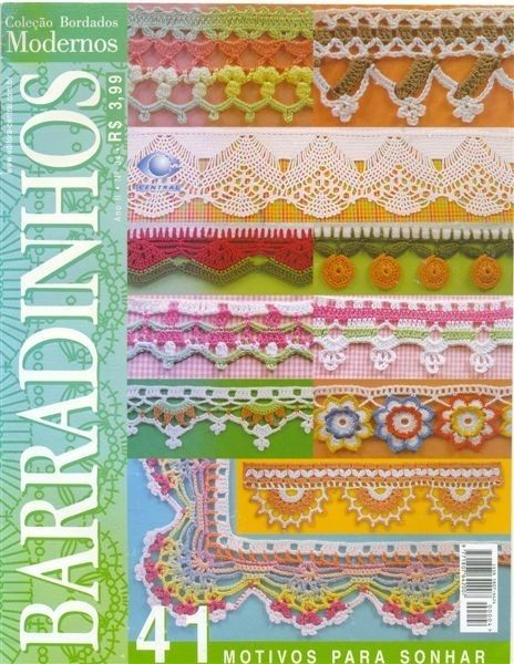 Delicadezas en crochet Gabriela: 33 Patrones gratis de puntillas decorativas con sus esquemas y muestras tejidas