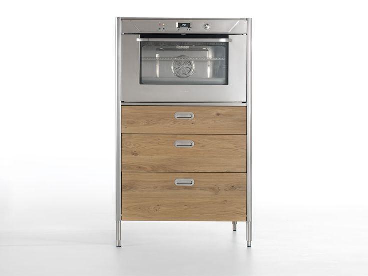 Módulo de cozinha independente com forno Módulo de cozinha com forno Coleção Liberi in cucina by ALPES-INOX | design Nico Moretto