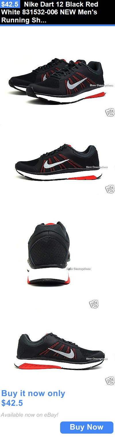 Men Shoes: Nike Dart 12 Black Red White 831532-006 New Mens Running Shoes Multi Size BUY IT NOW ONLY: $42.5