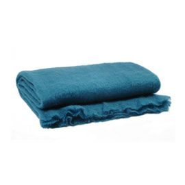 """HEAL'S"" Heal's Supersoft Mohair Throw Teal at Heal's"