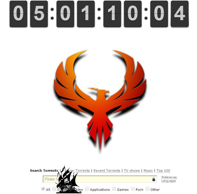 The Phooenix is RISING!!! With less than 5 days to go, The Pirate Bay puts up PHOENIX hinting at February 1 come back