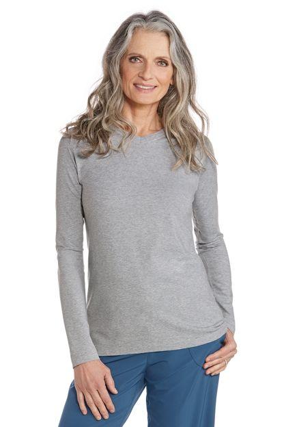 V-Neck T-Shirt: Sun Protective Clothing - Coolibar