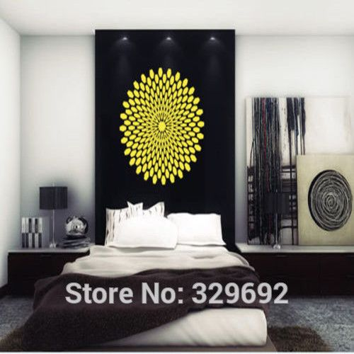 Sticker Decal Mandala Yoga Symbol Ornament Indidan Geometric  Vinyl Wall Decal Home Decor Wall Sticker size 56x56cm #Affiliate