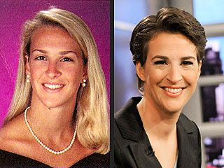 I think Rachael @Maddow IS attractive, but interesting to see she rocked long, blonde tresses in the past, too.
