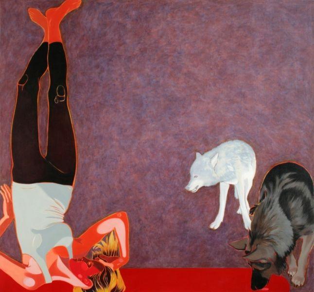 Iwona Zawadzka, Biały wilk, 2011 #art #contemporary #artvee
