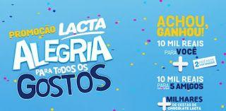 Promoção Lacta 2016  Achou , Ganhou R$ 10 Mil Reais para você e seus amigos!