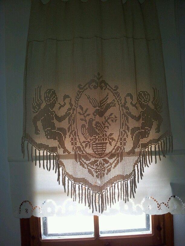 my filet crochet curtain