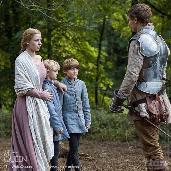 Elizabeth Woodville and sons Thomas and Richard Grey meet King Edward IV.