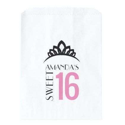 Princess Sweet 16 Thank You Favor Candy Bar Buffet Favor Bag - craft supplies diy custom design supply special