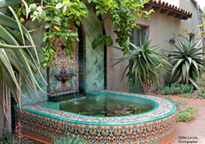 Spanish colonial fountain garden water features pinterest - Spanish style water fountains ...