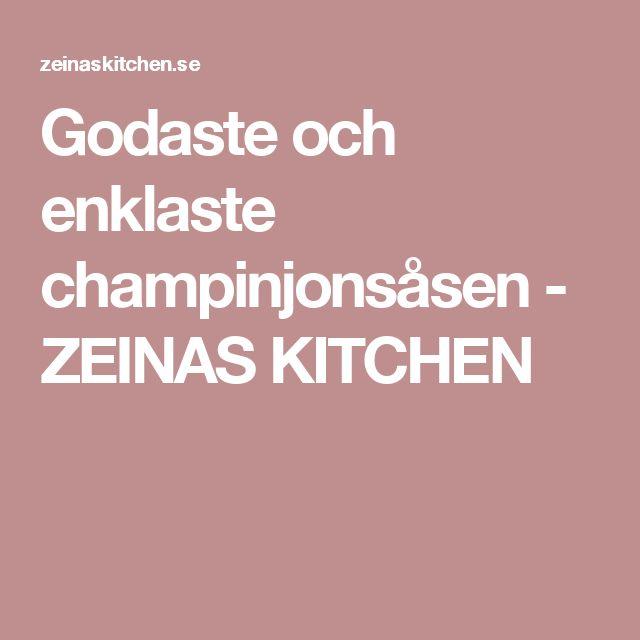 Godaste och enklaste champinjonsåsen - ZEINAS KITCHEN