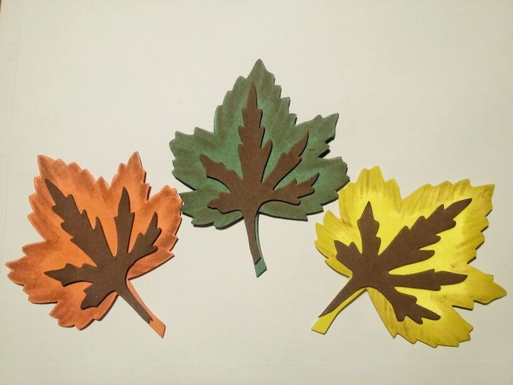 Hojas de otoño en Goma Eva