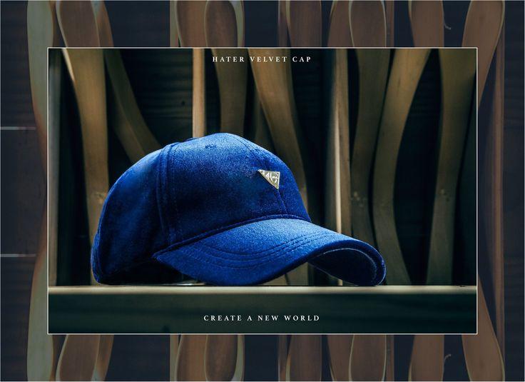 HATER VELVET CAP 【 Color 】 ( Royal Blue / Black / Burgundy / Gray )