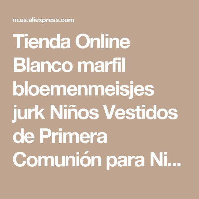 Tienda Online Blanco marfil bloemenmeisjes jurk Niños Vestidos de Primera Comunión para Niñas 2017 de Bola de La Correa Rosa Elegante Vestido de Niña de las Flores | Aliexpress móvil