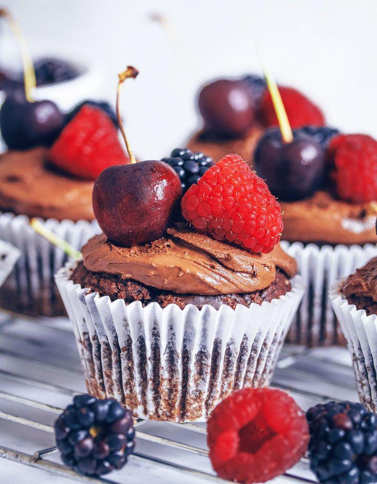 Chocolate Ganache Cupcakes Vegan Gluten Free Chocolate