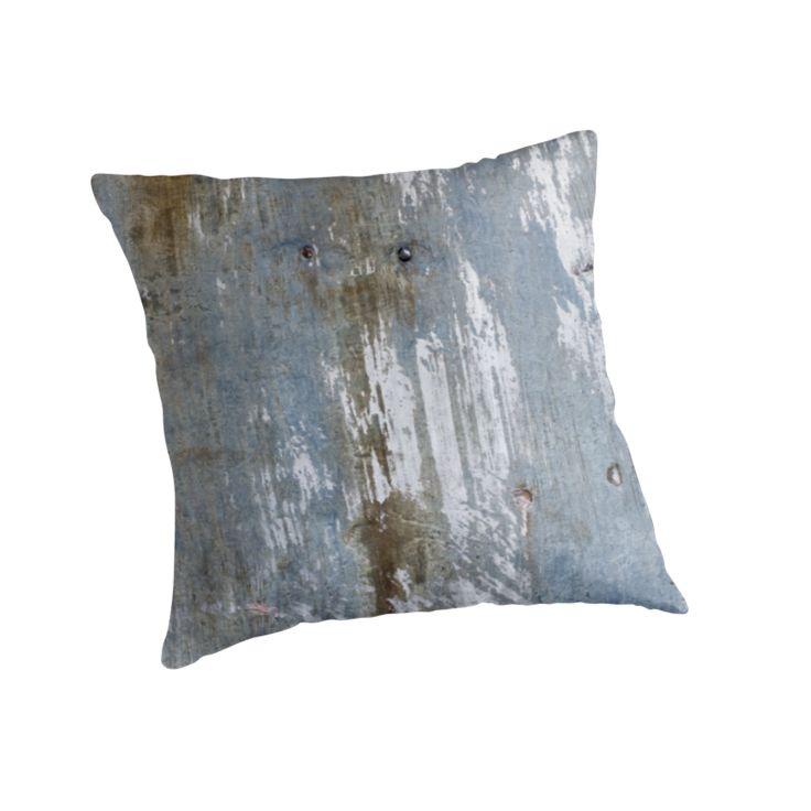 Urbain Grunge Metal texture Throw Pillows by Galerie 503