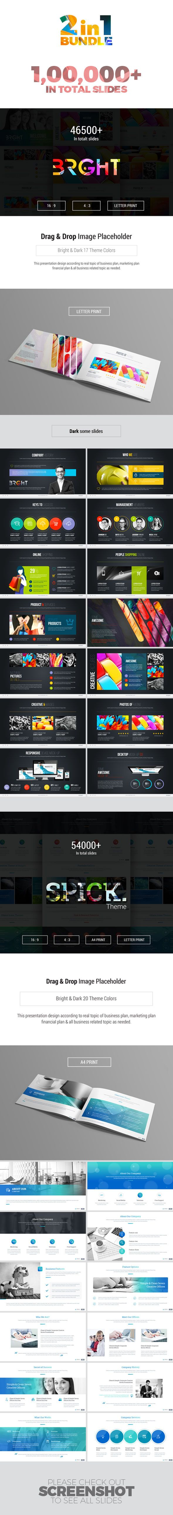 Powerpoint Template Bundle - 227+ Unique Custom Slides
